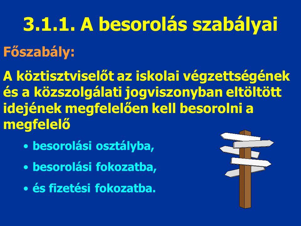 3.1.1. A besorolás szabályai Főszabály: