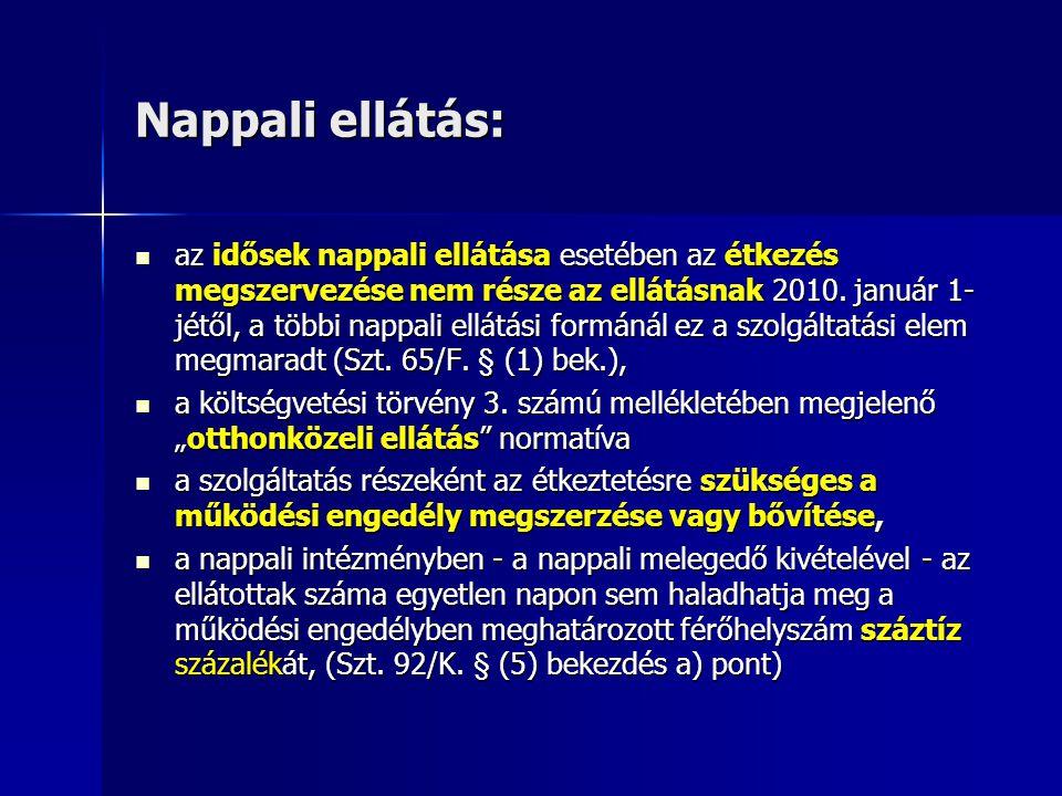 Nappali ellátás: