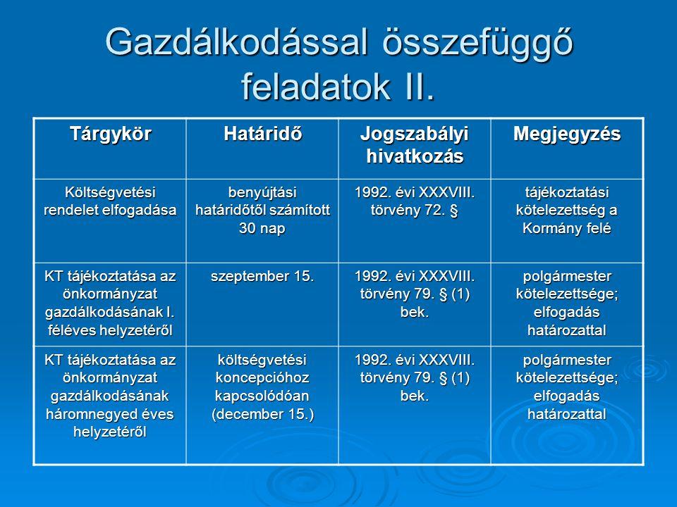Gazdálkodással összefüggő feladatok II.