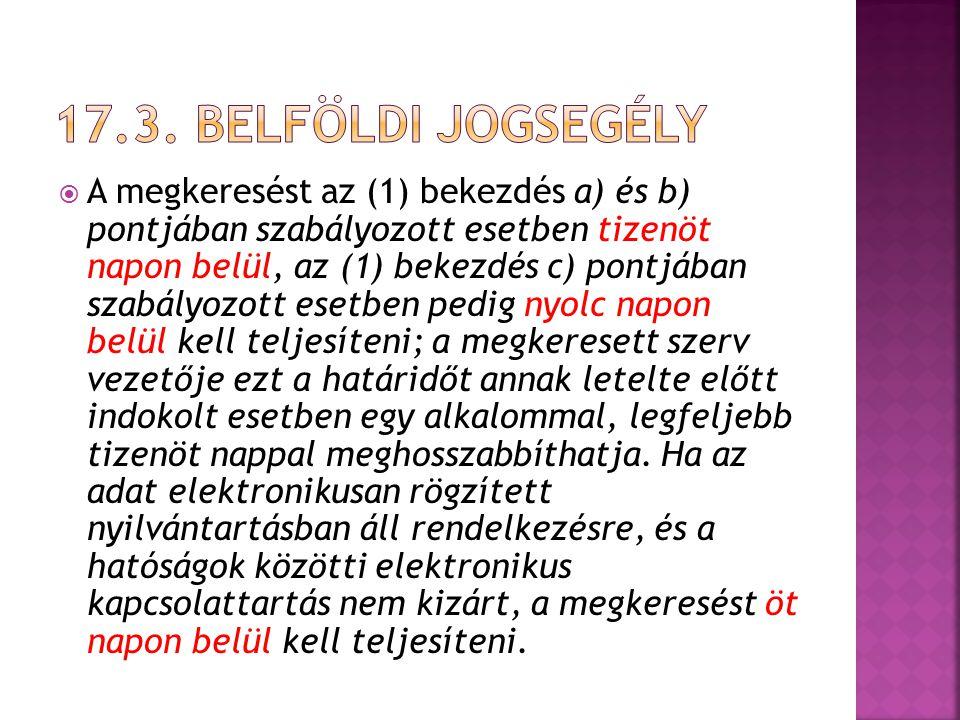 17.3. Belföldi jogsegély