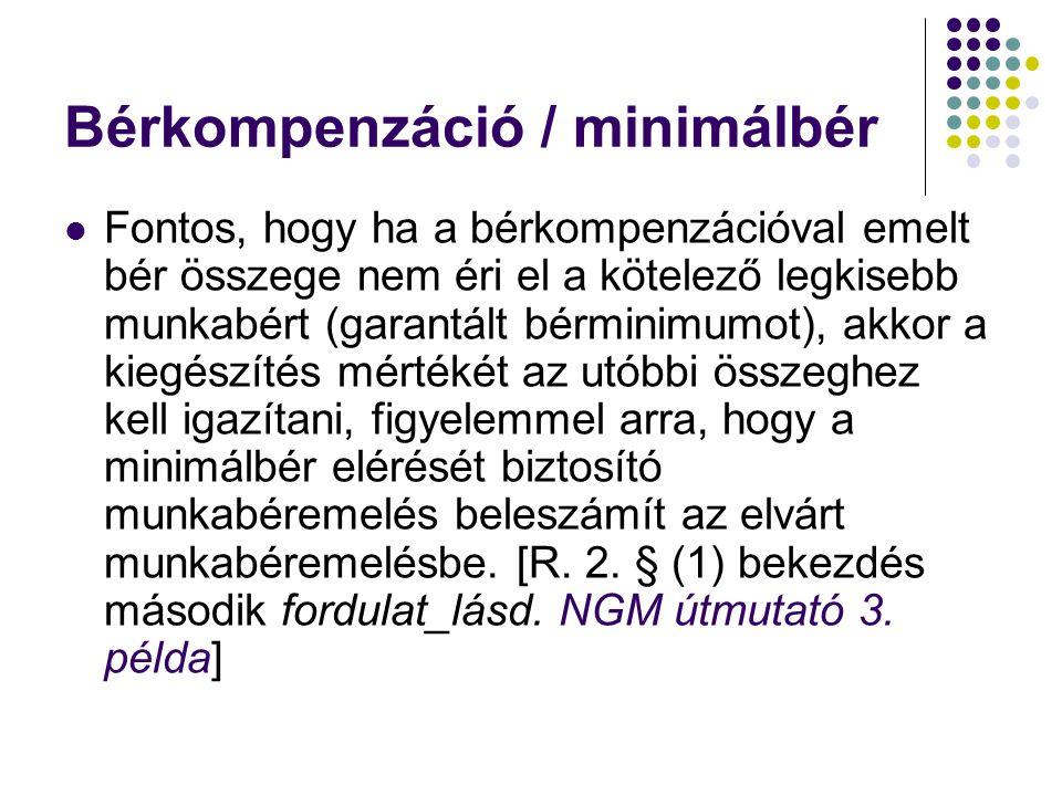 Bérkompenzáció / minimálbér