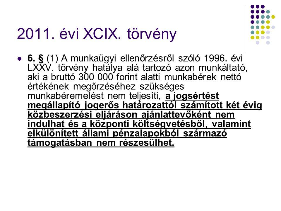 2011. évi XCIX. törvény