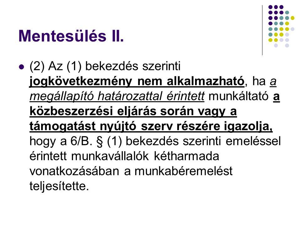 Mentesülés II.