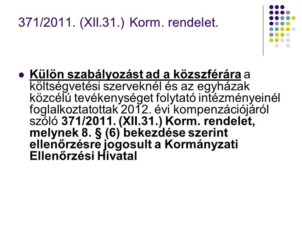 371/2011. (XII.31.) Korm. rendelet.