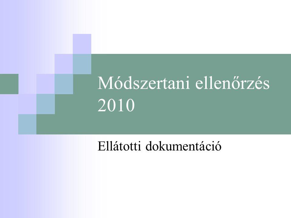 Módszertani ellenőrzés 2010