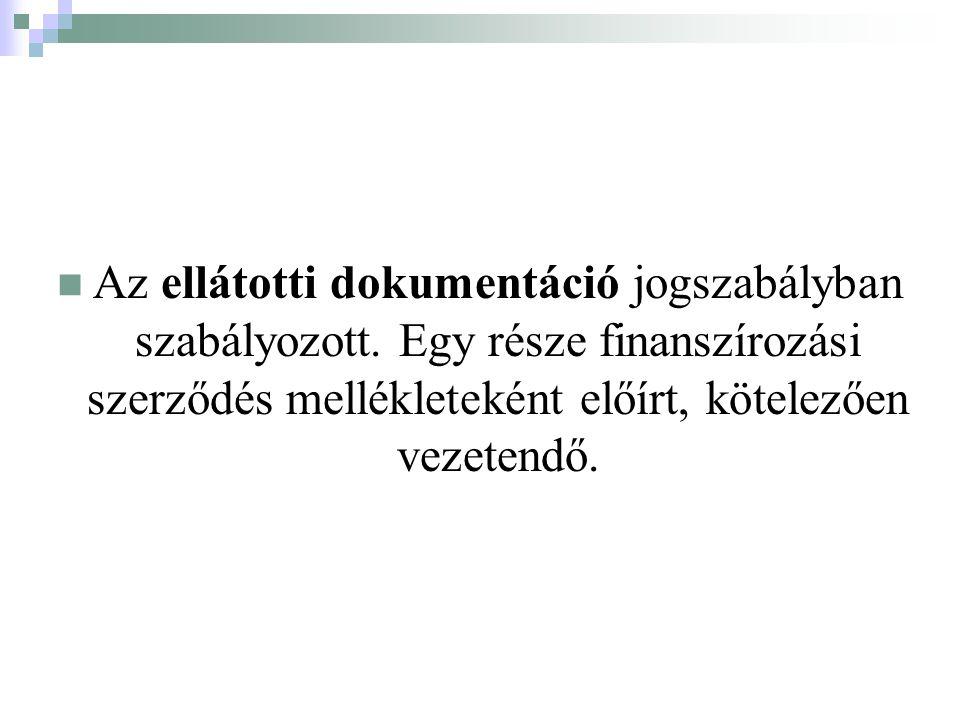 Az ellátotti dokumentáció jogszabályban szabályozott