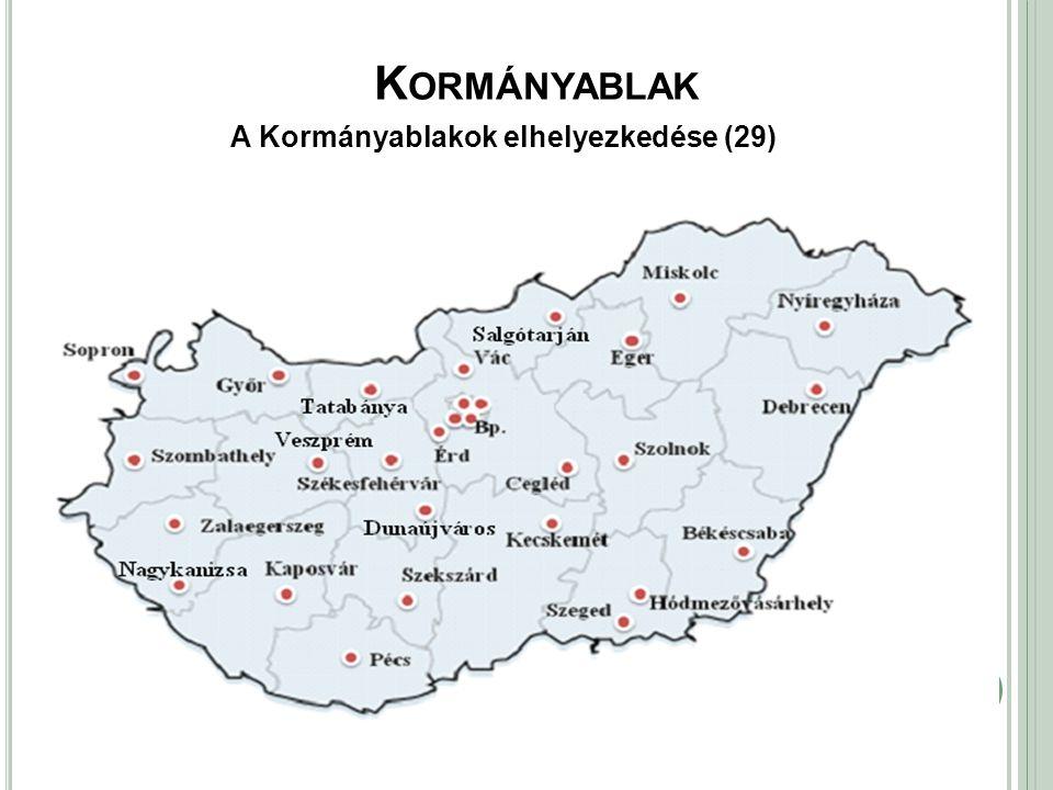 Kormányablak A Kormányablakok elhelyezkedése (29)