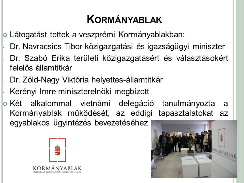 Kormányablak Látogatást tettek a veszprémi Kormányablakban: