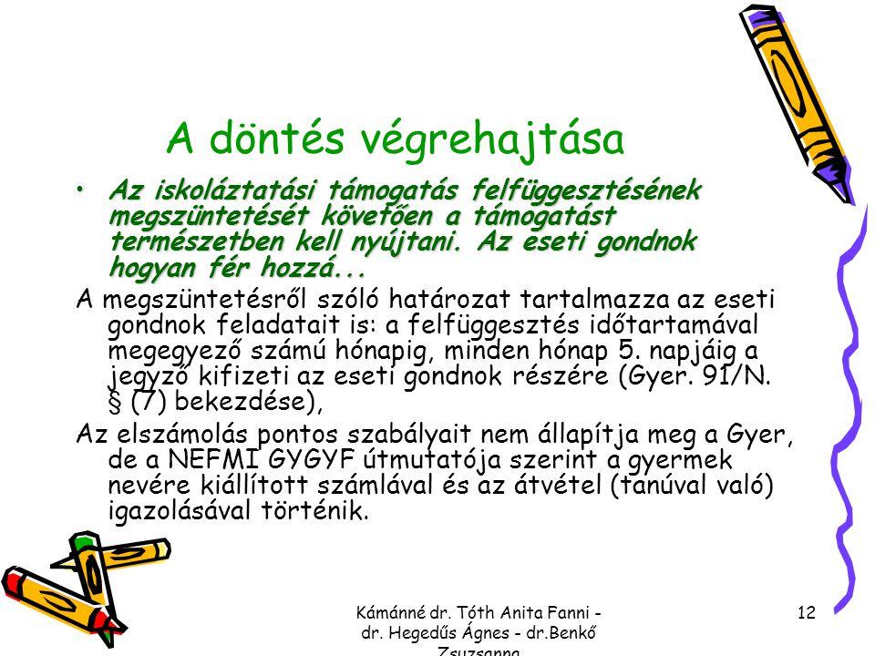 Kámánné dr. Tóth Anita Fanni - dr. Hegedűs Ágnes - dr.Benkő Zsuzsanna