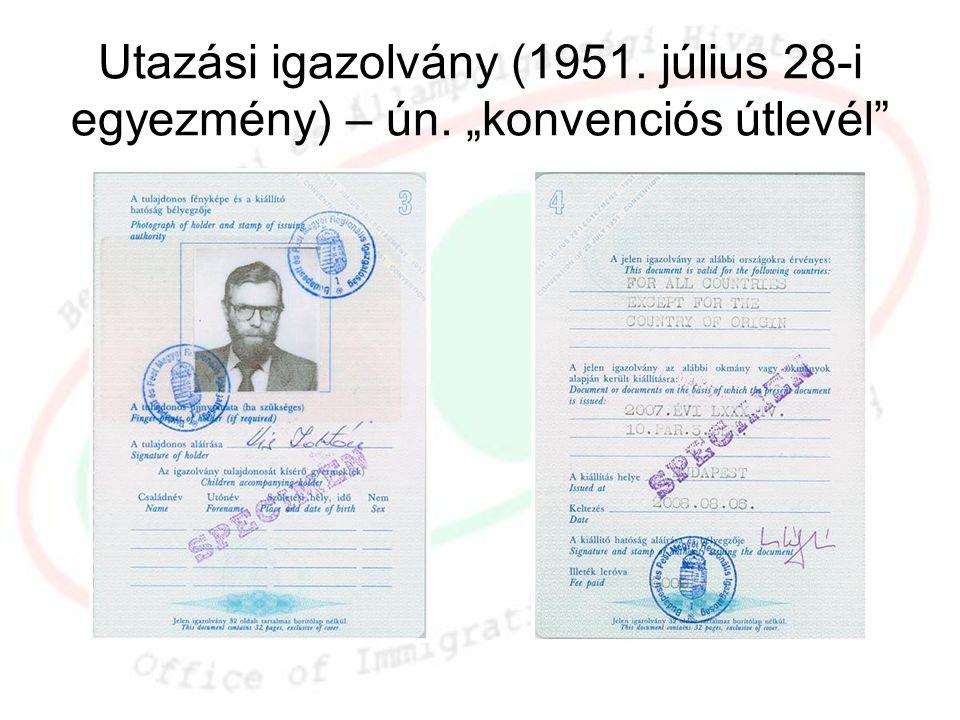 Utazási igazolvány (1951. július 28-i egyezmény) – ún