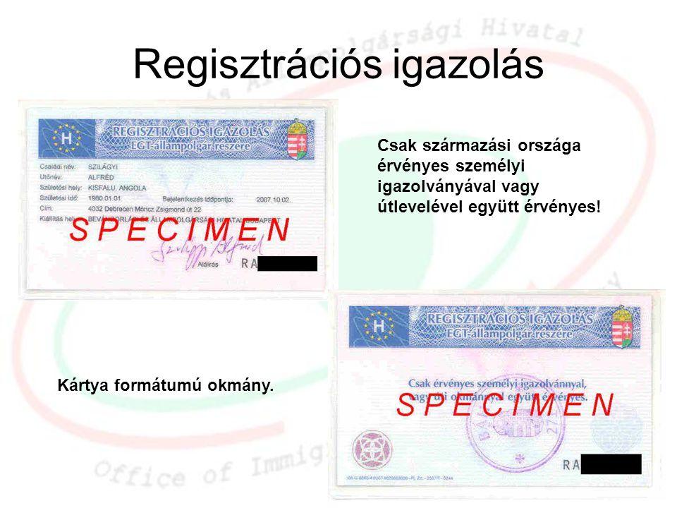 Regisztrációs igazolás