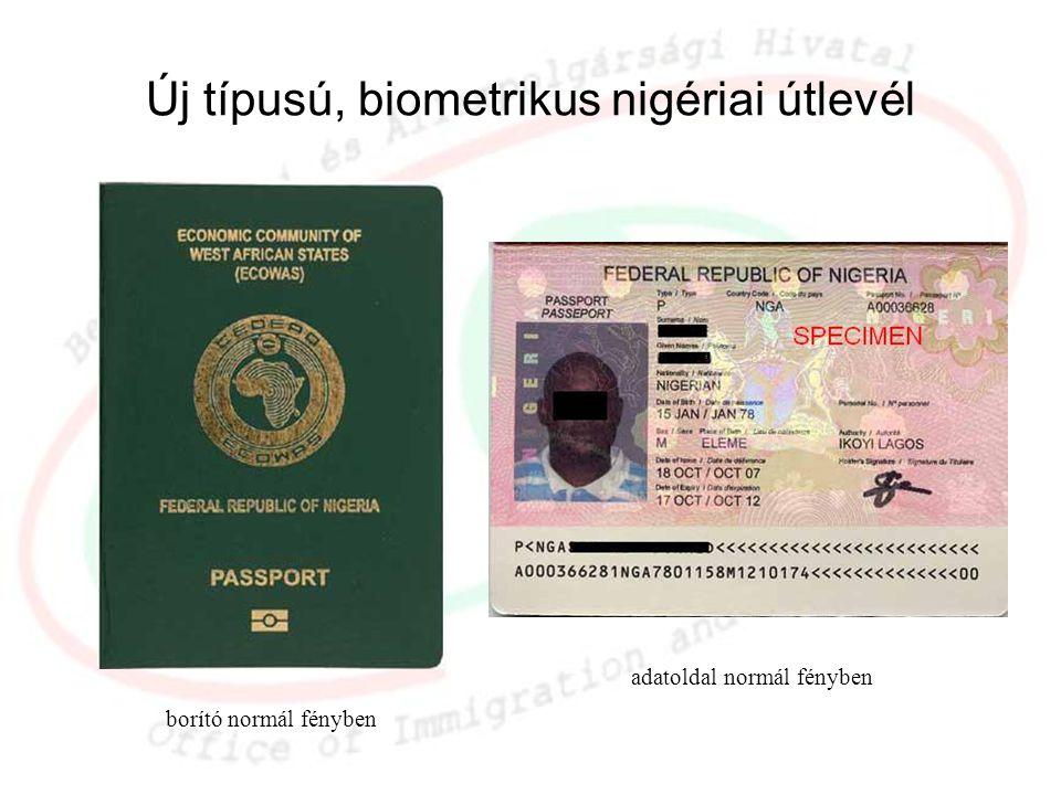 Új típusú, biometrikus nigériai útlevél