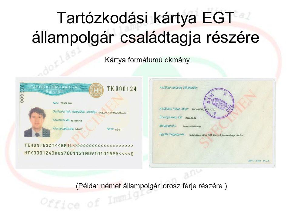 Tartózkodási kártya EGT állampolgár családtagja részére