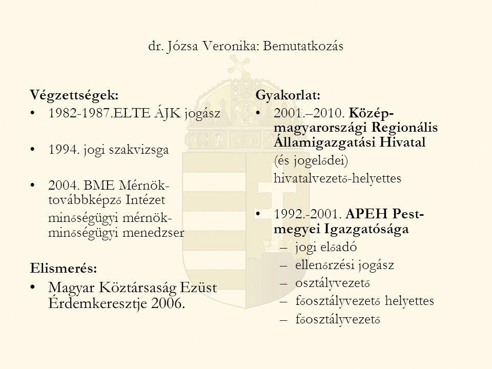 dr. Józsa Veronika: Bemutatkozás