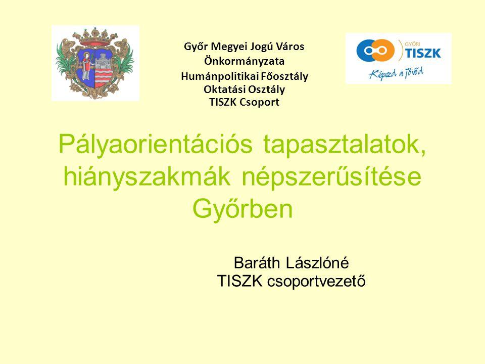 Pályaorientációs tapasztalatok, hiányszakmák népszerűsítése Győrben