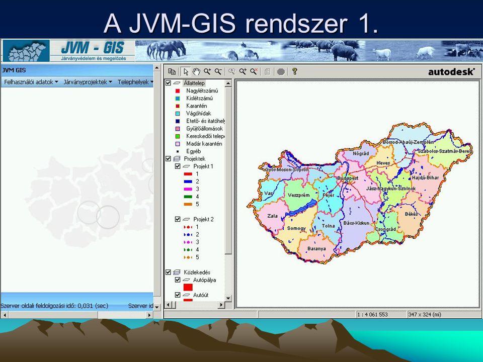A JVM-GIS rendszer 1.