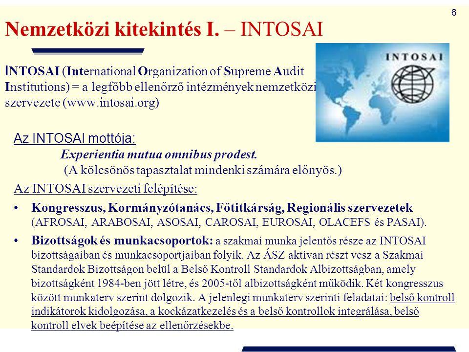 Nemzetközi kitekintés I