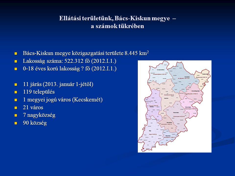 Ellátási területünk, Bács-Kiskun megye – a számok tükrében