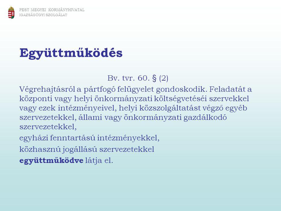 Együttműködés Bv. tvr. 60. § (2)
