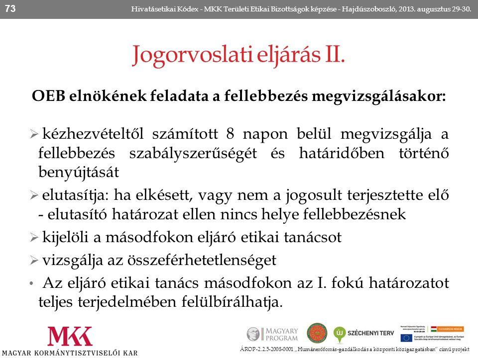Jogorvoslati eljárás II.