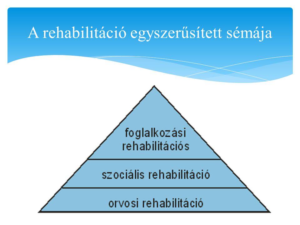 A rehabilitáció egyszerűsített sémája