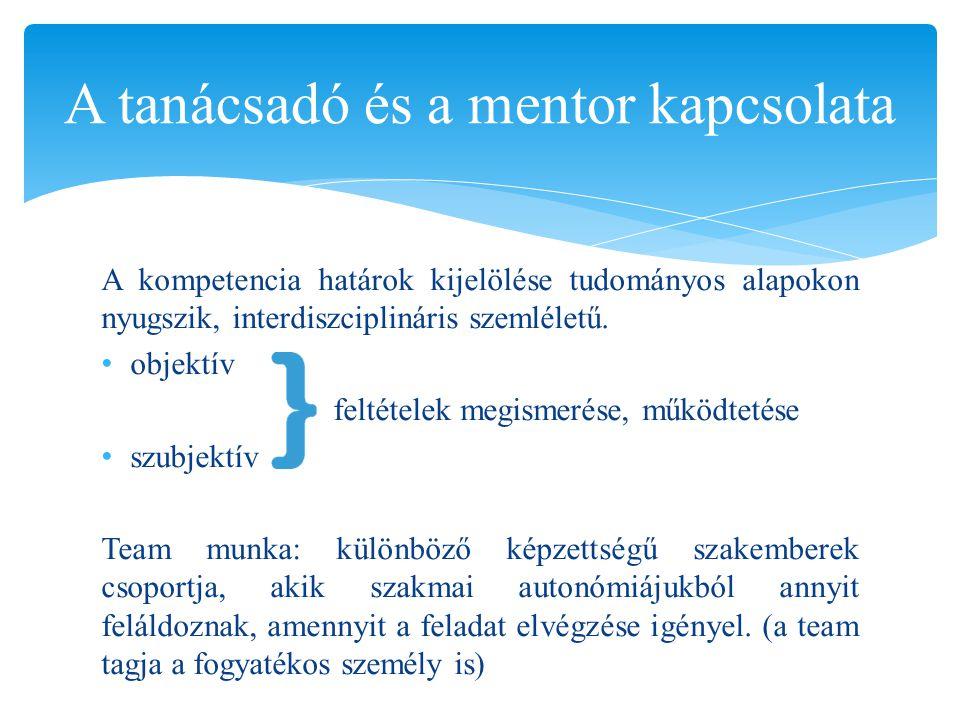 A tanácsadó és a mentor kapcsolata