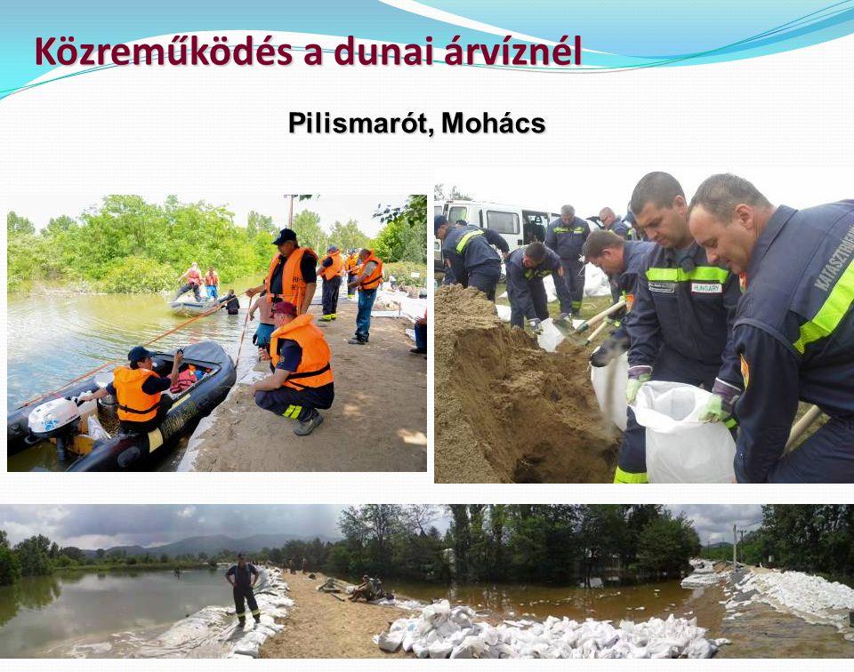 Közreműködés a dunai árvíznél