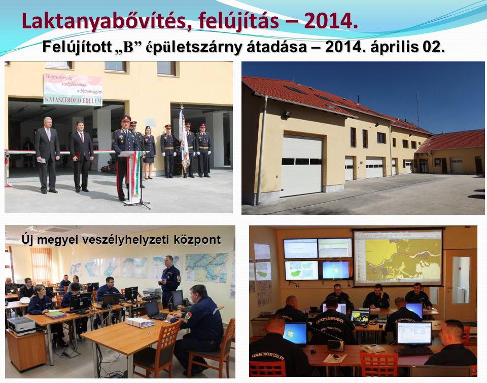 Laktanyabővítés, felújítás – 2014.