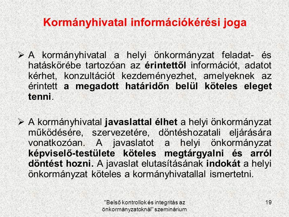 Kormányhivatal információkérési joga