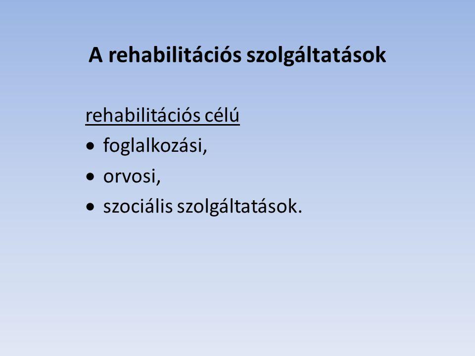 A rehabilitációs szolgáltatások