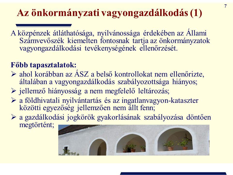 Az önkormányzati vagyongazdálkodás (1)