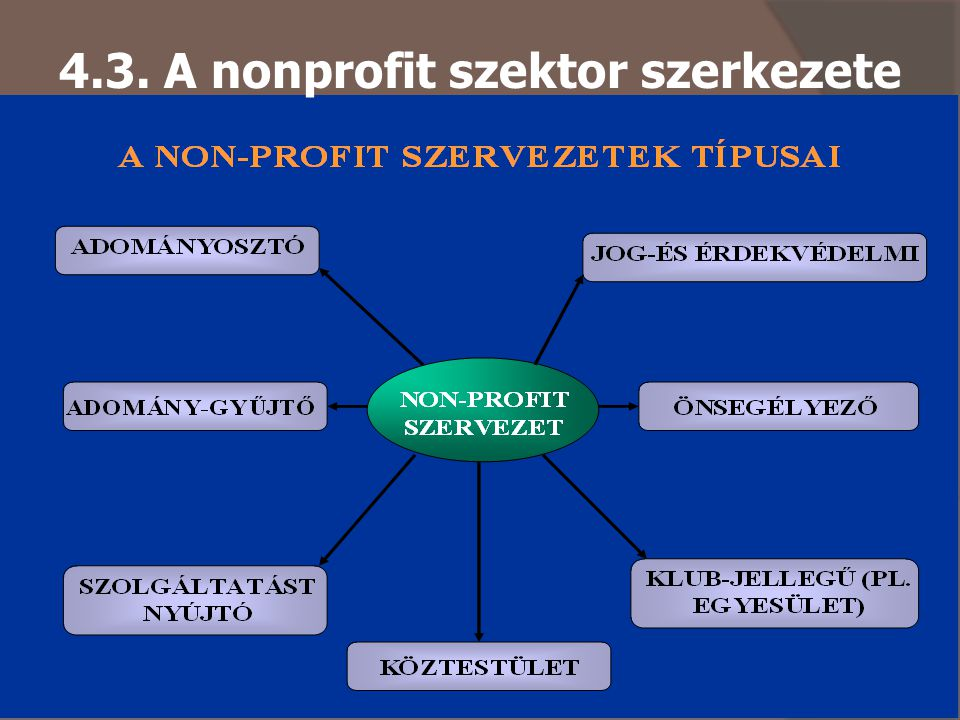 4.3. A nonprofit szektor szerkezete