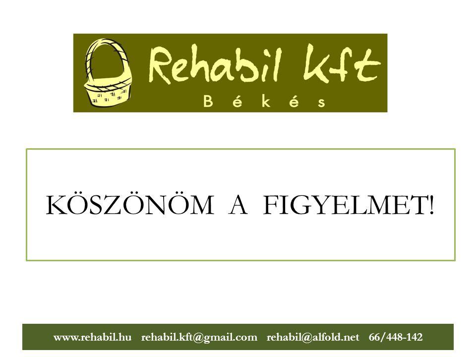 www.rehabil.hu rehabil.kft@gmail.com rehabil@alfold.net 66/448-142