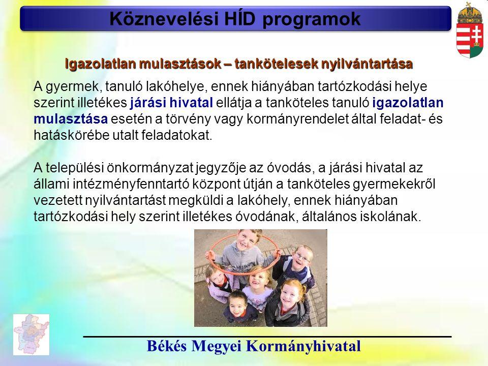 Köznevelési HÍD programok