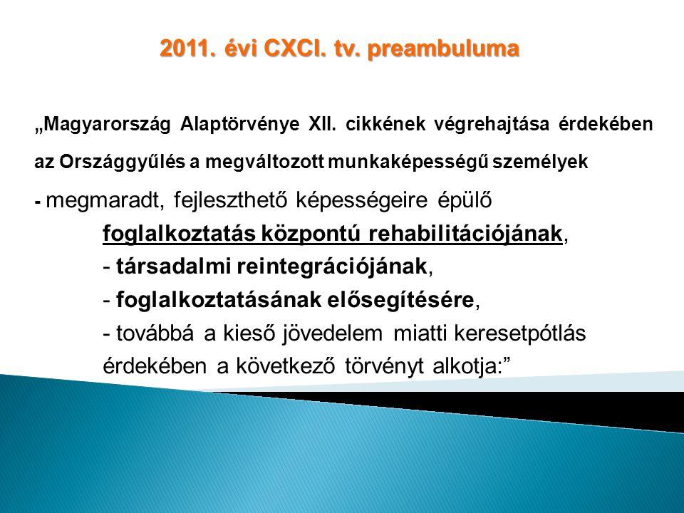 2011. évi CXCI. tv. preambuluma
