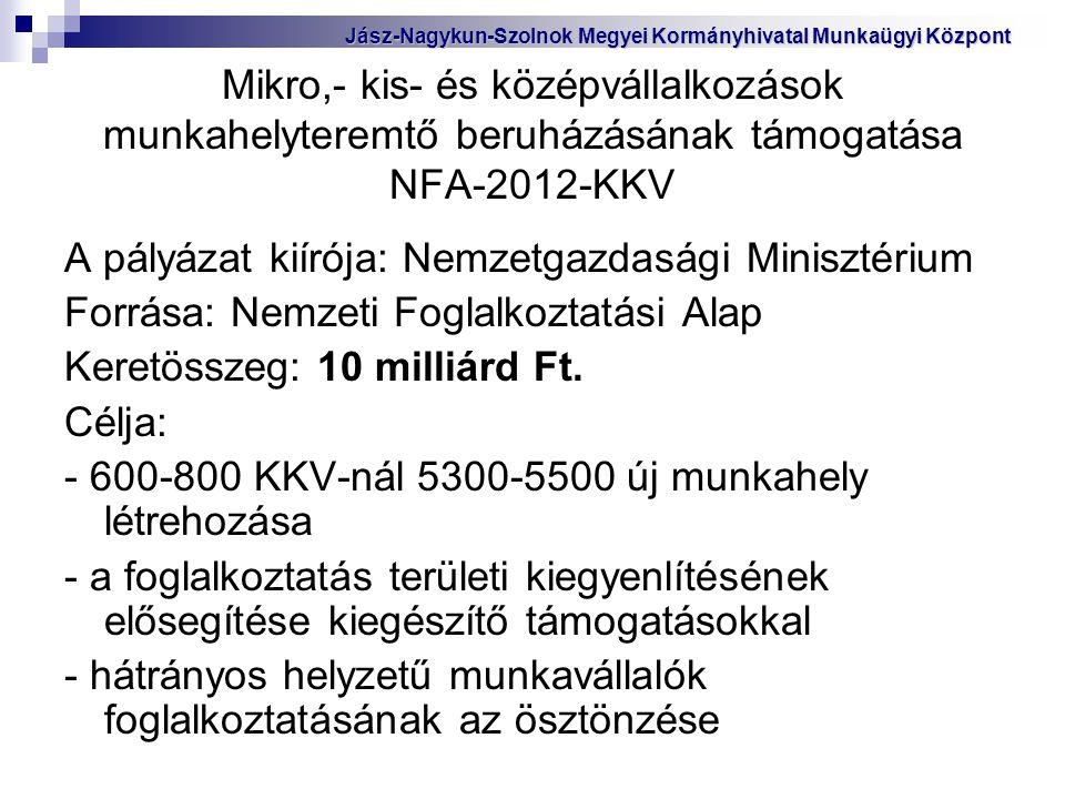 A pályázat kiírója: Nemzetgazdasági Minisztérium
