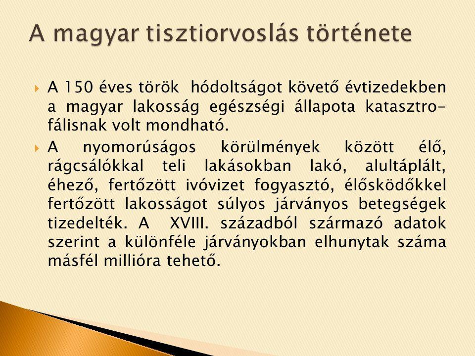 A magyar tisztiorvoslás története