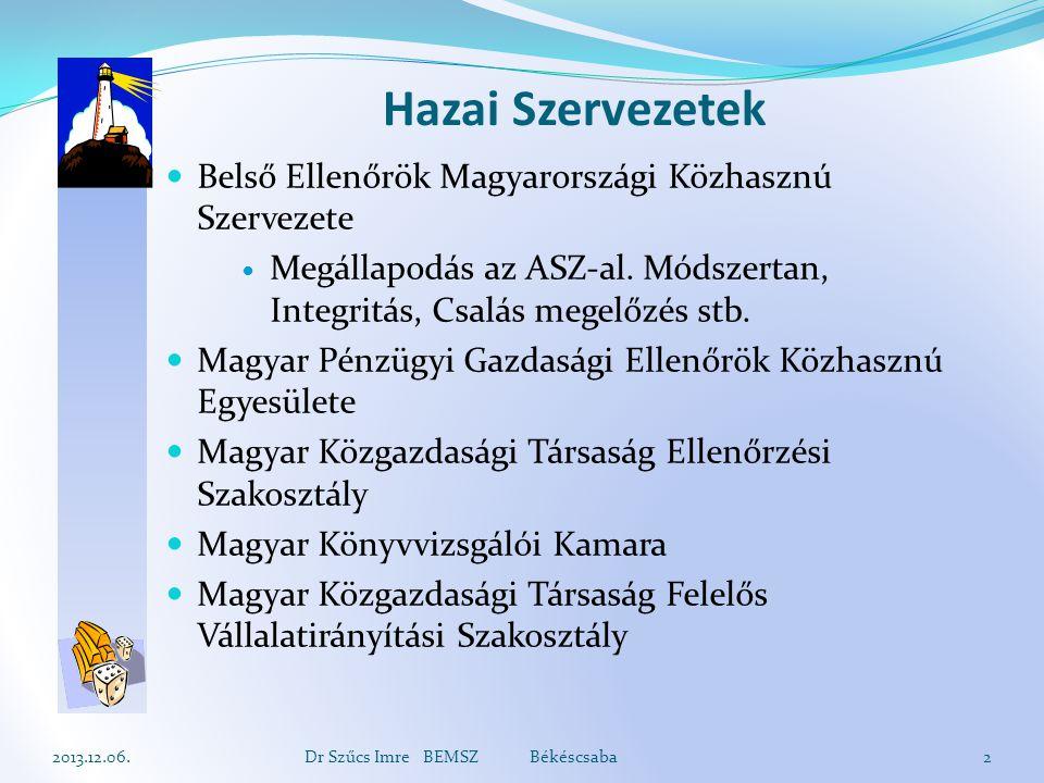 Hazai Szervezetek Belső Ellenőrök Magyarországi Közhasznú Szervezete