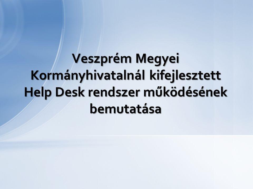Veszprém Megyei Kormányhivatalnál kifejlesztett Help Desk rendszer működésének bemutatása