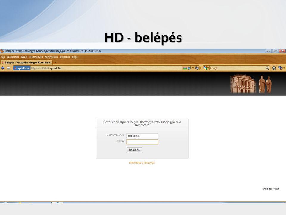 HD - belépés