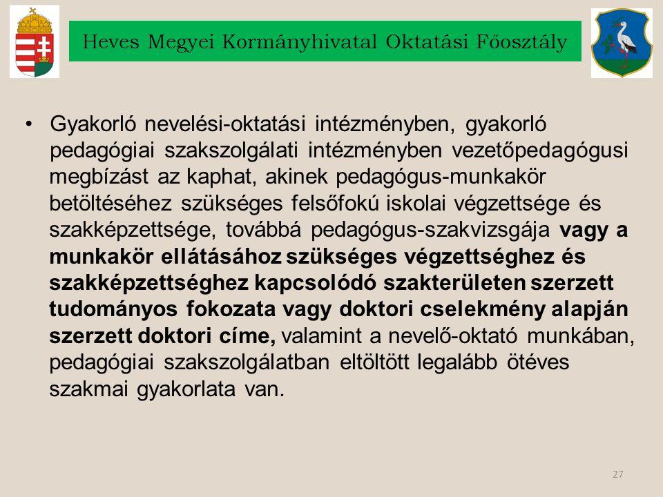 Heves Megyei Kormányhivatal Oktatási Főosztály