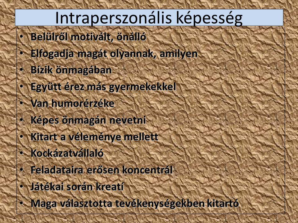 Intraperszonális képesség