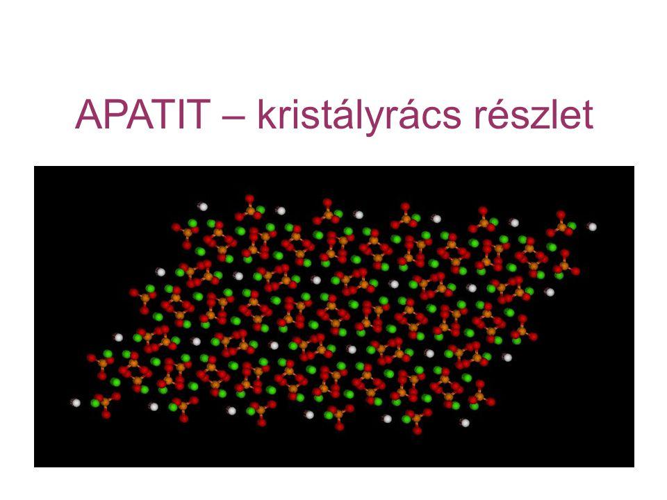 APATIT – kristályrács részlet
