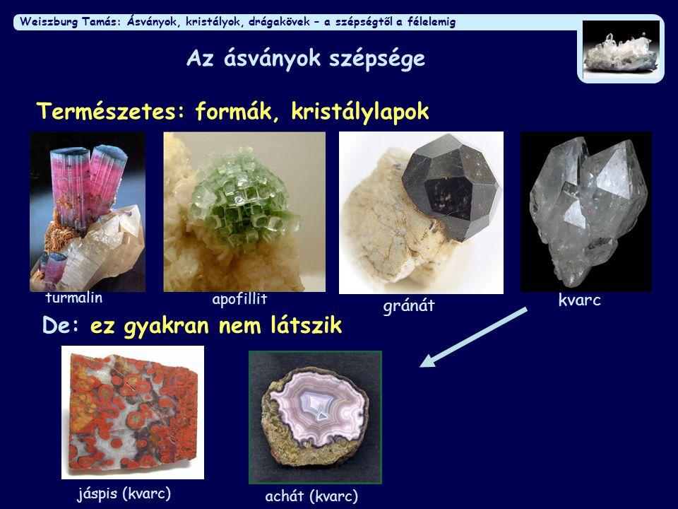 Természetes: formák, kristálylapok