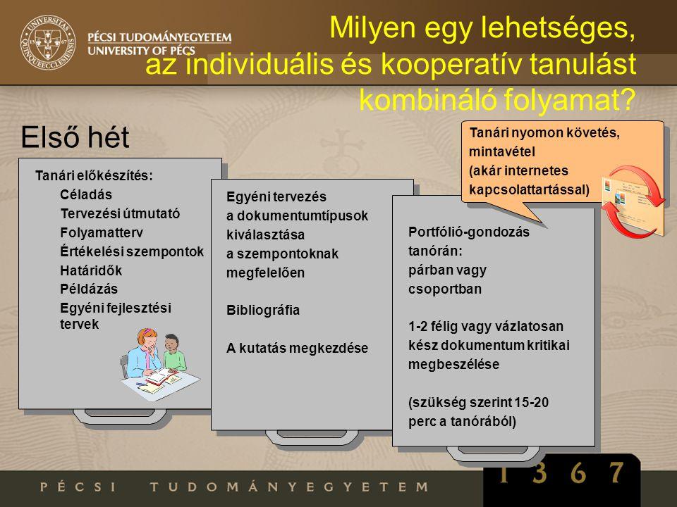 Milyen egy lehetséges, az individuális és kooperatív tanulást kombináló folyamat