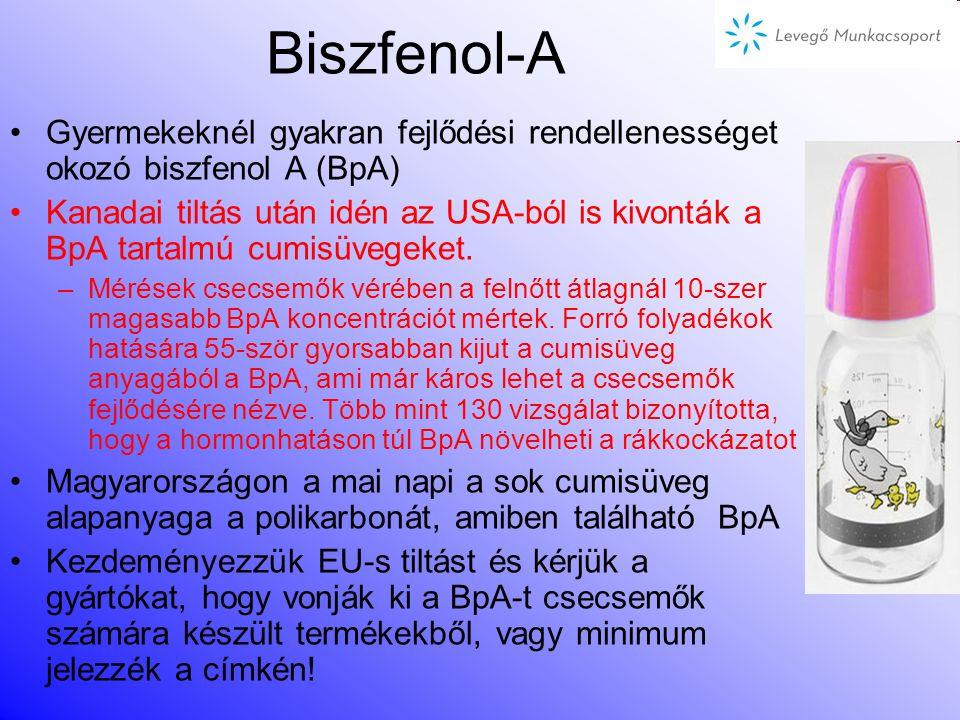 Biszfenol-A Gyermekeknél gyakran fejlődési rendellenességet okozó biszfenol A (BpA)