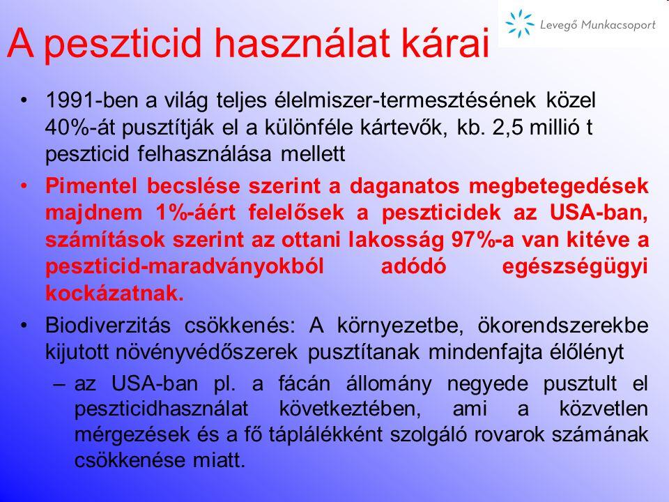 A peszticid használat kárai