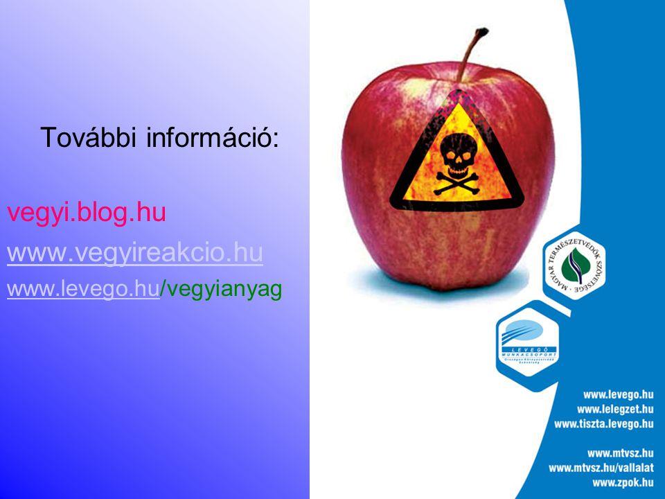 További információ: vegyi.blog.hu www.vegyireakcio.hu