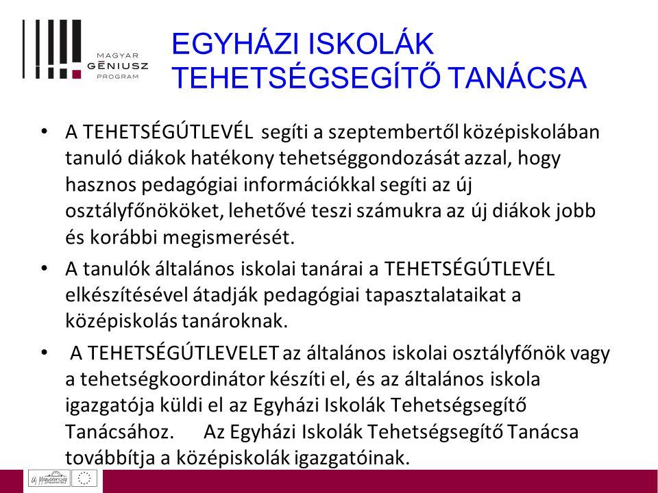 EGYHÁZI ISKOLÁK TEHETSÉGSEGÍTŐ TANÁCSA