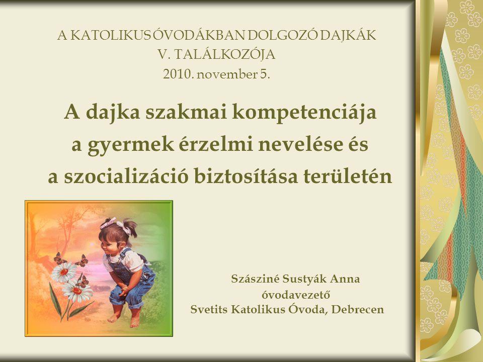 Szásziné Sustyák Anna óvodavezető Svetits Katolikus Óvoda, Debrecen